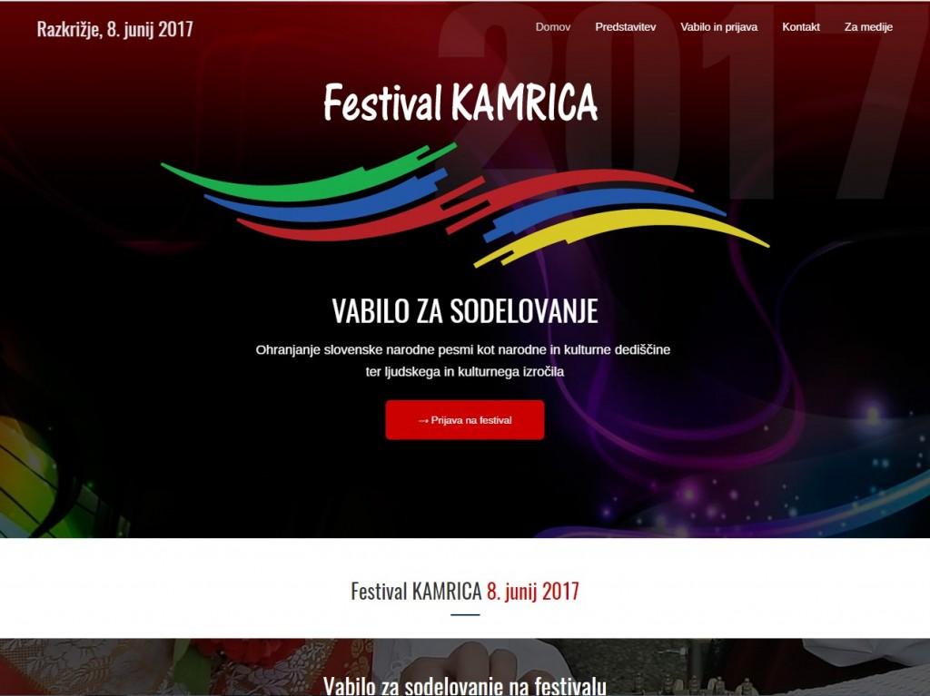 Festival Kamrica, Vabilo