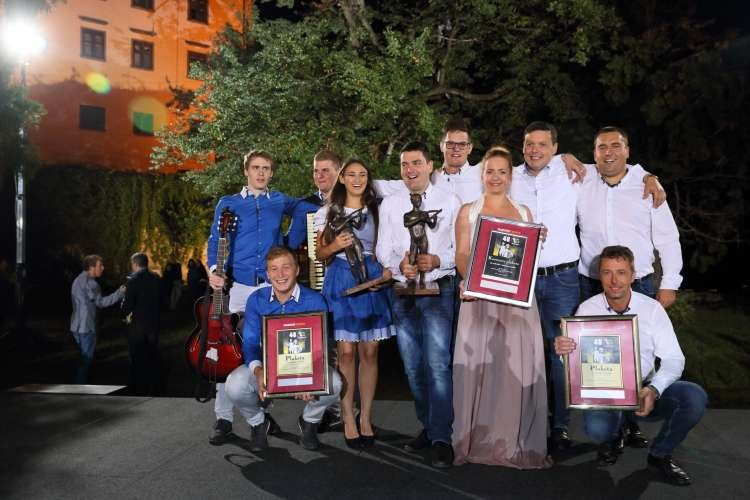 Na sliki: Mladi Pomurci in Prleški kvintet [ Foto: Matej Trstenjak ]